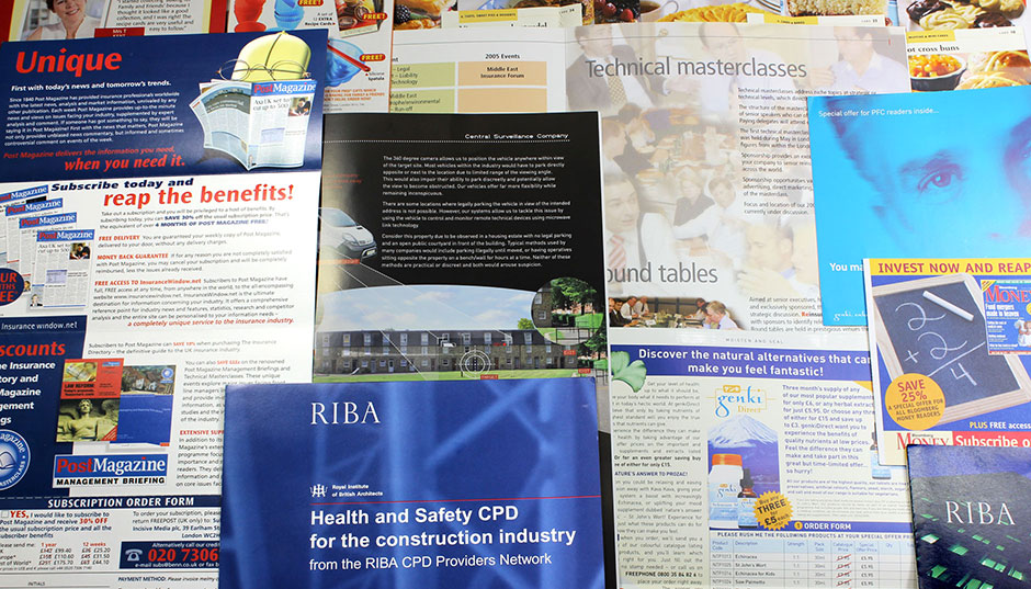 Various informational booklets and promotional items