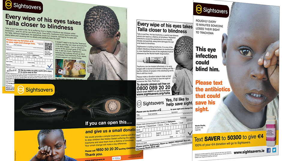 Press campaigns for Sightsavers UK and Eire.