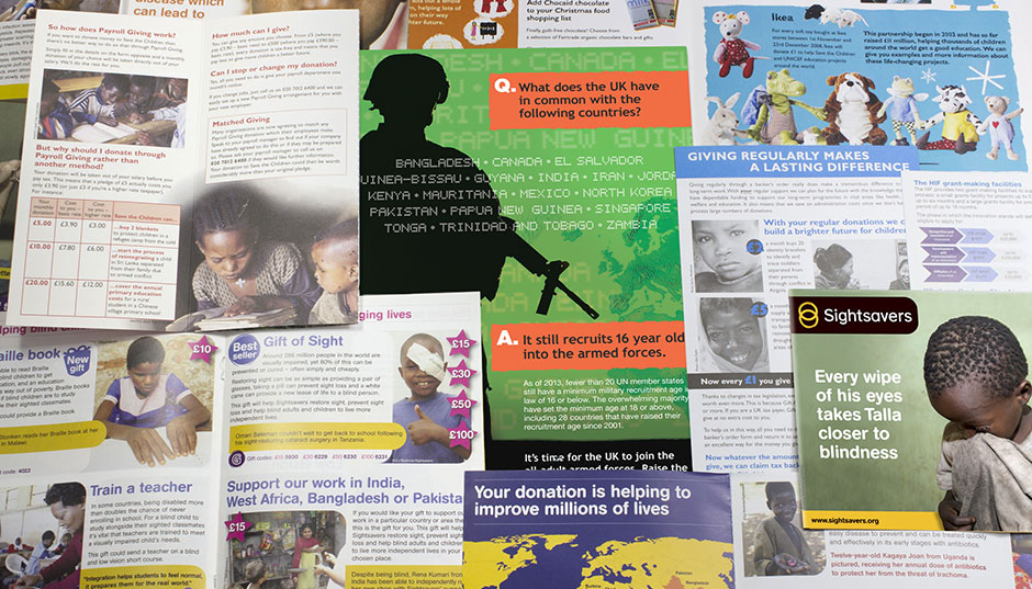 Various not-for-profit leaflets