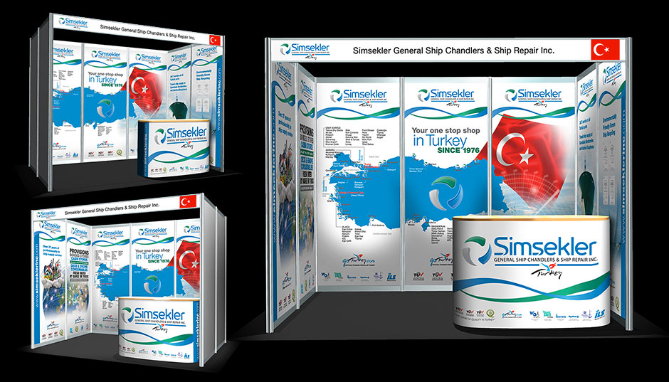 Exhibition stand design for Simsekler